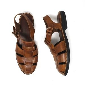 Cole Haan brown leather Fisherman sandals, size 11